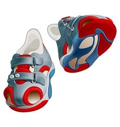 Children shoes vector