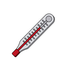 Color graphic thermometer with temperature scale vector