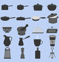 Cookware Icons Set vector