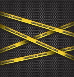 Crime scene do not cross vector image