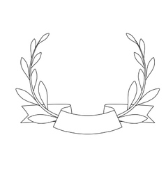 decorative wreath icon vector image