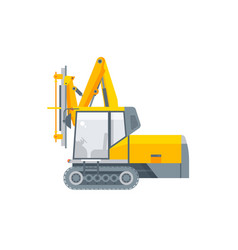 Equipment for tunnels side view vector