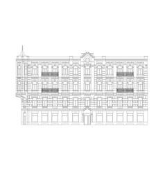 facade classical building vector image