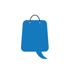 flat design concept of speech bubble shopping bag vector image