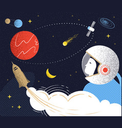 flight to mars vector image