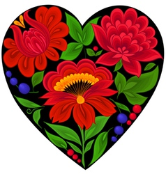 floral backgroundsflowerheart love vector image