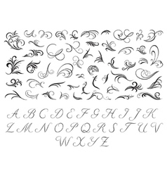 Floral pattern and initials vector