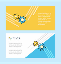 gear abstract corporate business banner template vector image