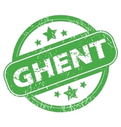 Ghent green stamp vector