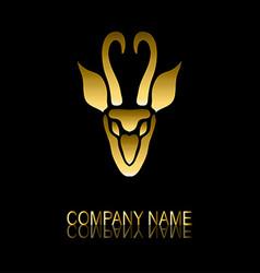 golden gazelle symbol vector image