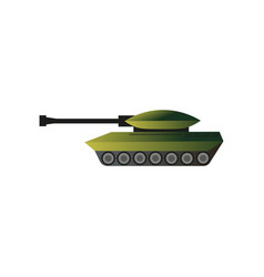green camo military war tank kill machine vector image