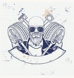 hand drawn sketch racer man vector image