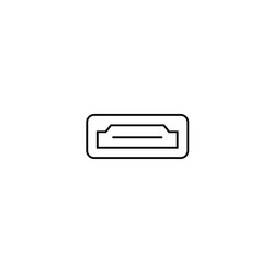 hdmi icon vector image