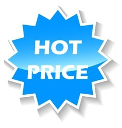 Hot price blue icon vector