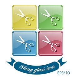 Icon scissors sewing and fashion vector image