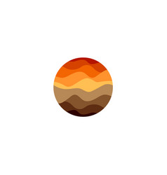 isolated abstract orange color round shape logo vector image