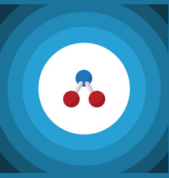 Isolated water molecule flat icon nuclear vector