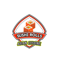 Japanese cuisine restaurant sushi icon vector