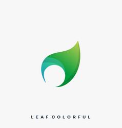 leaf design template vector image