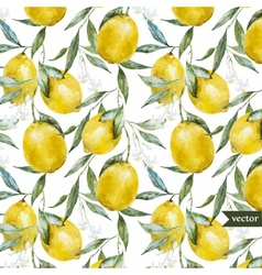 Lemon pattern5 vector image