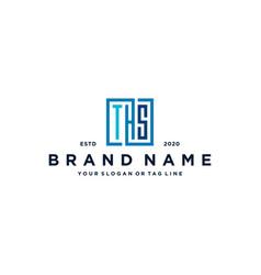 Letter ths square logo design vector