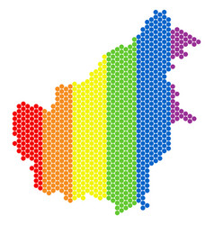 Lgbt spectrum dot borneo island map vector