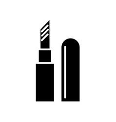 lipstick icon black sign on vector image