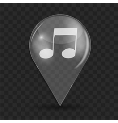 Music Glossy Icon vector