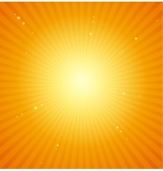 Orange Sunburst bright background vector image