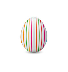 Painted and decorated easter egg isolated on the vector