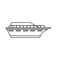 Powerboat icon outline style vector image