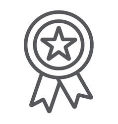 reward line icon badge and medal award sign vector image