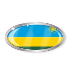 Rwanda flag oval button vector