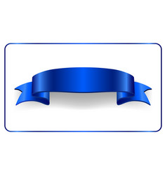 satin empty ribbon banner vector image