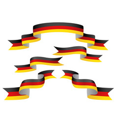 set germany insignia in different shape of vector image
