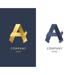 Sign a gold alphabet symbol letter vector