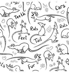 Sketchy rats vector