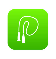 skipping rope icon digital green vector image