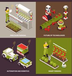 Smart farm design concept vector