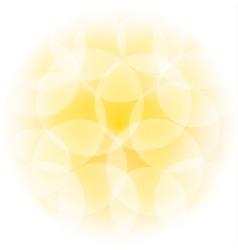 Sunny bokeh effect vector
