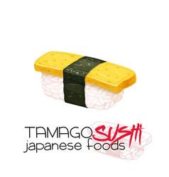 Tamago sushi vector