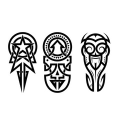 tattoo abstract black arm template set vector image