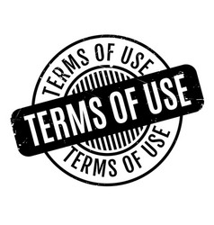 Terms of use rubber stamp vector