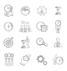 Time Management Sketch vector