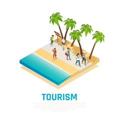 Travel people isometric composition vector