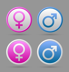 Venus and mars female and male symbols vector