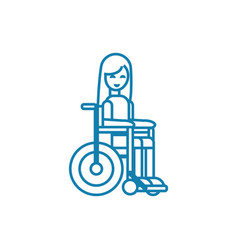 wheelchair invalid linear icon concept wheelchair vector image