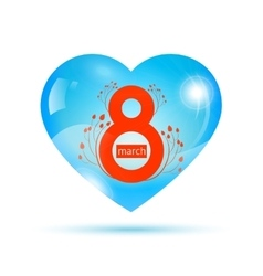 womens day in heart vector image