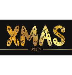 XMAS PARTY BANNER vector image