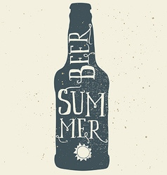Beer poster Print for T-shirts Hand lettering vector image vector image